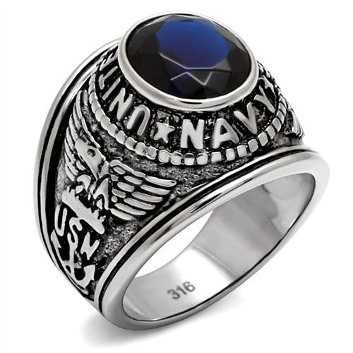 United States Navy Military Ring in Stainless Steel