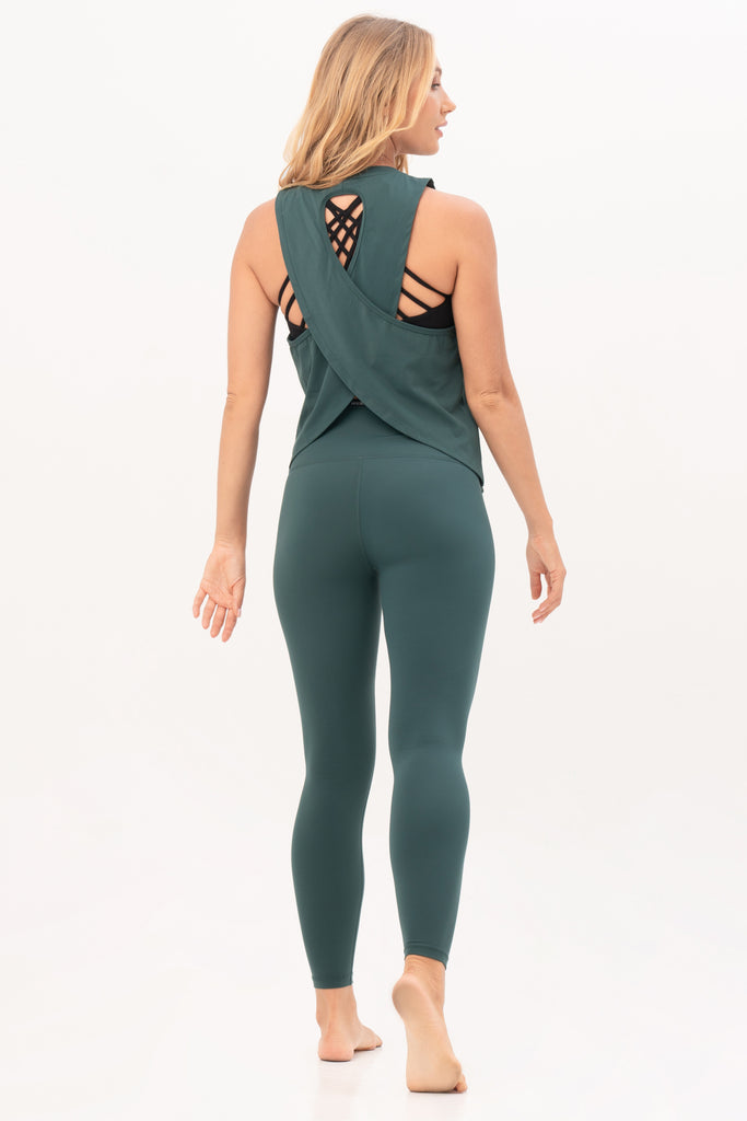 Gravity Loose Tank Top | Emerald Green