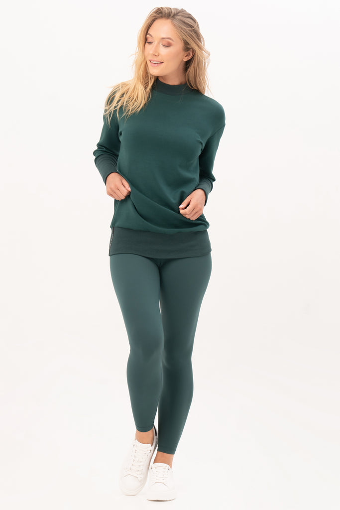 Gravity Two-way Sweater | Emerald Green
