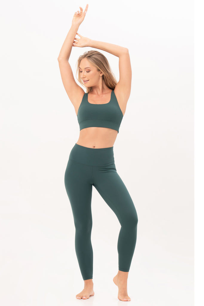 Gravity Signature Leggings | Emerald Green