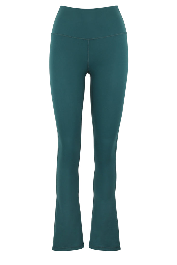 Gravity Flared Tights | Emerald Green