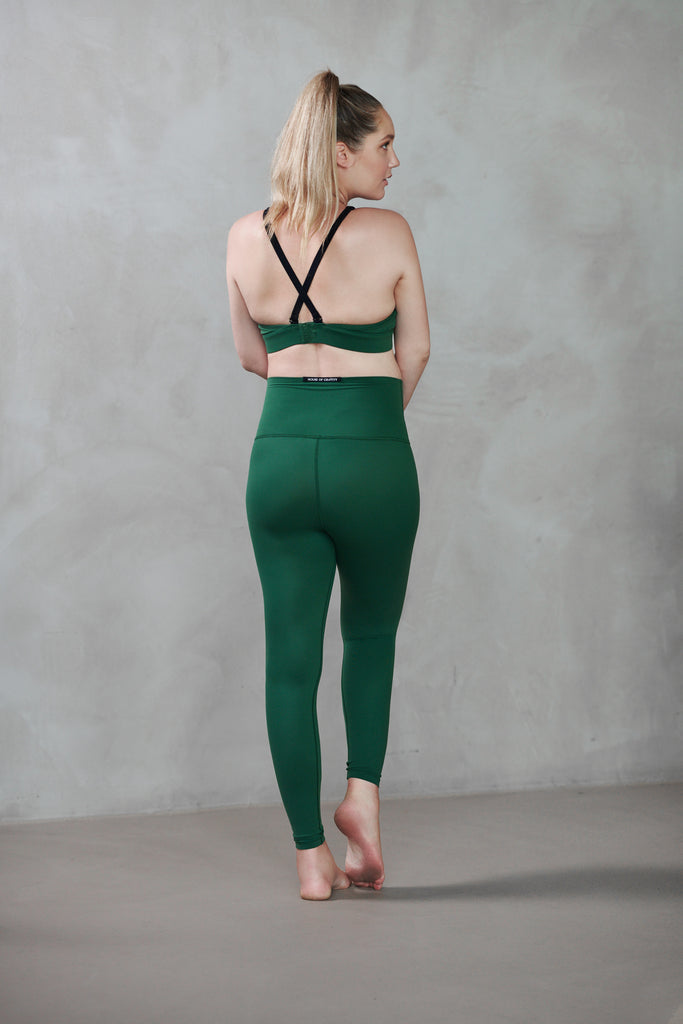 House of Gravity x Rens Kroes Maternity Leggings | Olivine Green