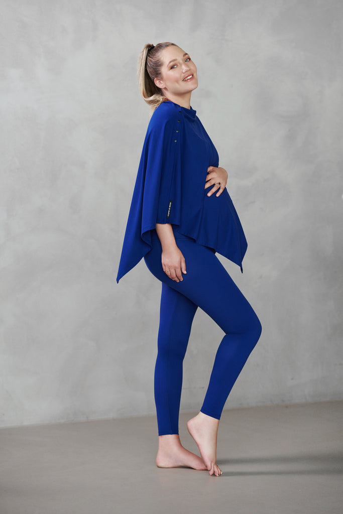 House of Gravity x Rens Kroes Nourishing Poncho & Scarf | Indigo Blue
