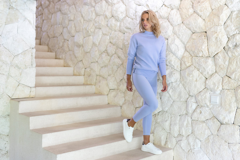 Gravity Two-way Sweater | Light Blue Aquamarine