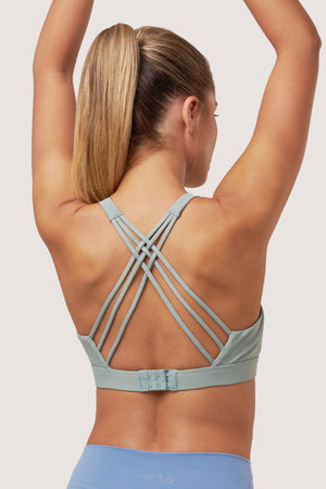 Cosmic Sports Bra | Light Green Jade