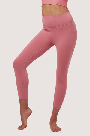 Gravity Crop Tights | Pink Rose Quartz