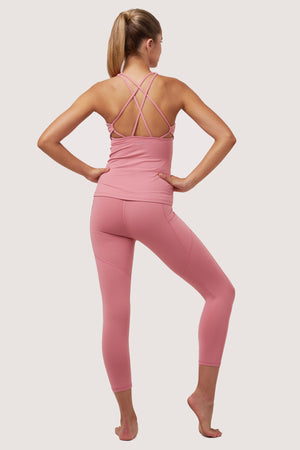 Gravity Crop Tights | Pink Rose Quartz - House of Gravity