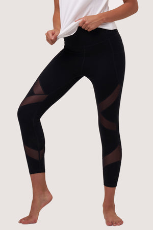 Galaxy Mesh Tights | Black Sapphire - House of Gravity