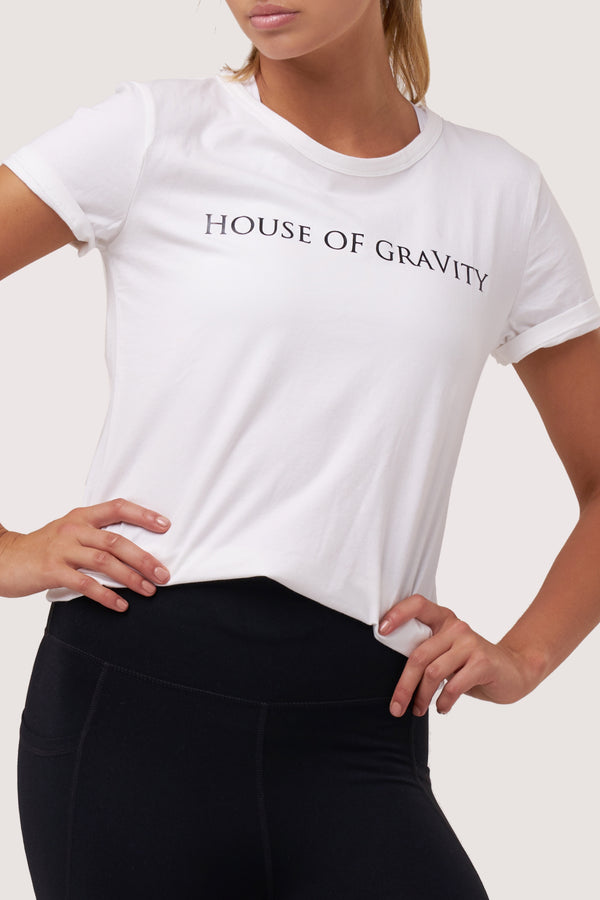 House of Gravity T-Shirt | Pure White Topaz
