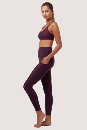Galaxy Mesh Tights | Purple Amethyst