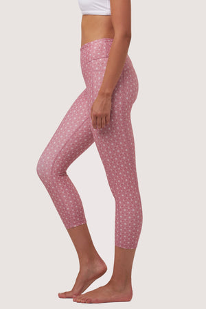 Galaxy Crop Tights | Rose Quartz Print - House of Gravity