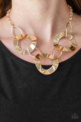 Modern Mechanics Necklace with Earrings