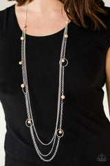 Collectively Carefree Paparazzi Accessories Necklace with Earrings