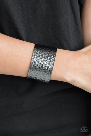 Shimmering Shimmer  Paparazzi Accessories Cuff Bracelet