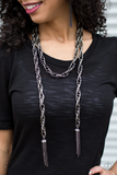 Best Seller! Scarfed for Attention Paparazzi Accessories Necklace including Earrings