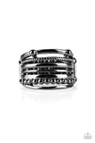 The Steel of the Night Paparazzi Accessories Ring