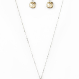 Dazzle in Diamonds Paparazzi Accessories Necklace with Earrings