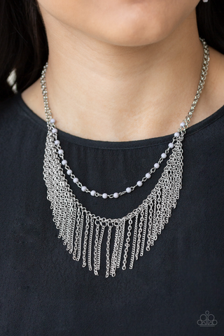 Fierce in Fringe Paparazzi Accessories Necklace with Earrings
