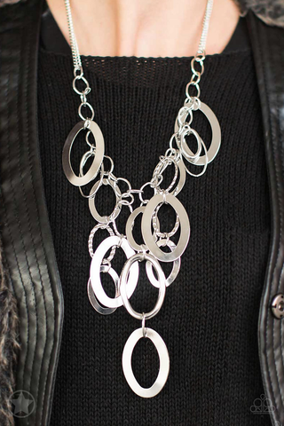 Best Seller!! A Silver Spell Necklace With Earrings