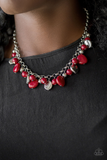 Flirtatious Florida red Necklace with Earrings