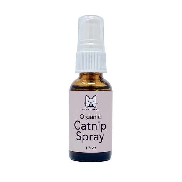 Organic Catnip Spray, 1 fl oz, Potent Liquid Cat Nip USA Grown