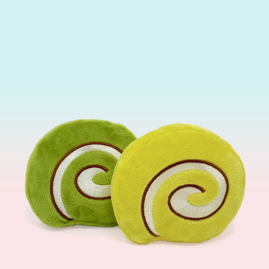 Roll Cakes, 2pc Wagashi Toys with Organic Catnip