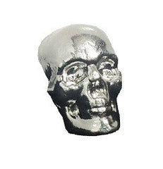 10 troy oz .999 fine silver hand-poured 3-Dimensional Skull