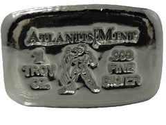 1 troy oz .999 fine silver Aquarius hand poured bullion bar