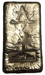 1 kilo .999 fine silver Atlantis Mint hand poured silver bullion bar