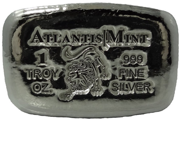 1 Troy Oz 999 Fine Silver Leo Hand Poured Bullion Bar