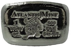 1 troy oz .999 fine silver Leo hand poured bullion bar
