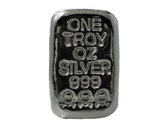 1 troy oz .999 fine silver bullion hand poured Skull and Crossbones loaf bar