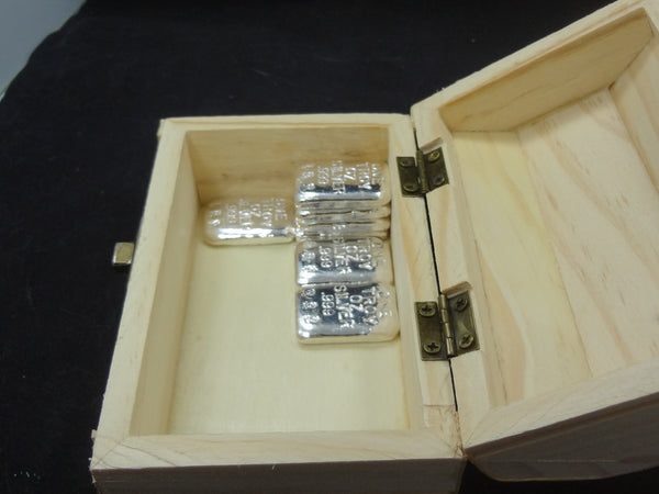 Treasure Chest With 1 Troy Oz 999 Fine Silver Bullion