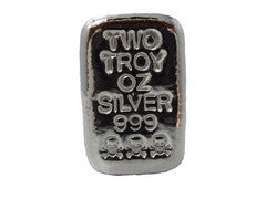 2 troy oz .999 fine silver skull-and-bones hand poured loaf bar