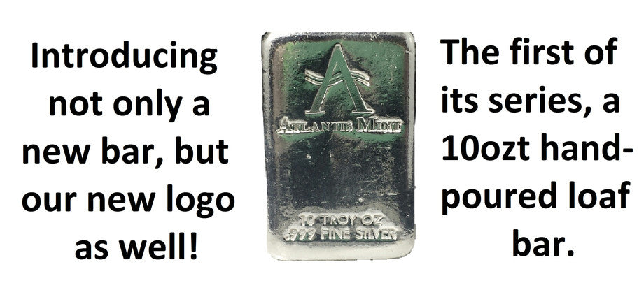 Atlantis Mint Poured Silver Bars Minted Silver Bars