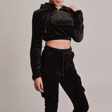 Load image into Gallery viewer, Women Hooded Sweatshirt Trousers Suit (4369740005516)