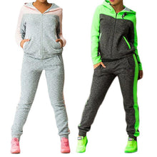 Load image into Gallery viewer, Color Block Hooded Outfits Two Piece Set (4369741054092)