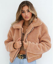 Load image into Gallery viewer, Fur Collar Soft Plush Women Jackets (4369630331020)