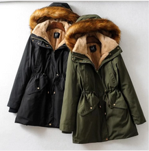 Load image into Gallery viewer, Women Loose Casual Thick Hooded Parka Coat (4369188683916)