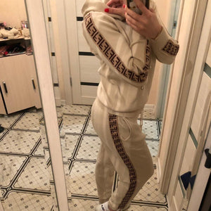 Women Hoodies And Pants Set Two-piece (4369741643916)