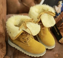 Load image into Gallery viewer, Winter Women Sweet Thick Snow Boots Cotton Padded (4369268932748)