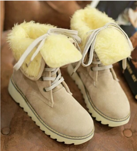 Winter Women Sweet Thick Snow Boots Cotton Padded (4369268932748)