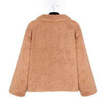 Load image into Gallery viewer, Faux Fur Plush Loose Coat (4369628201100)
