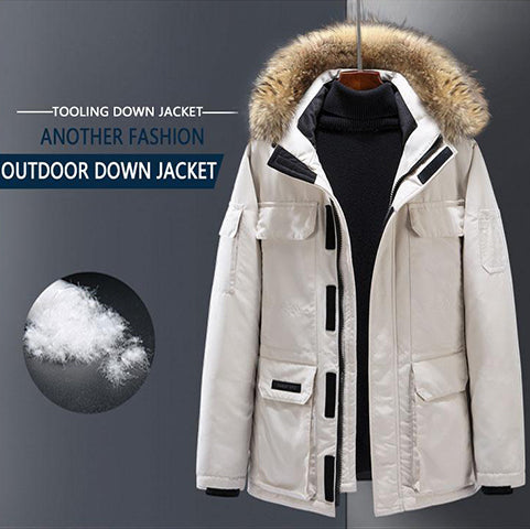 Down jacket, wind tool, male expedition, couple, female, long coat