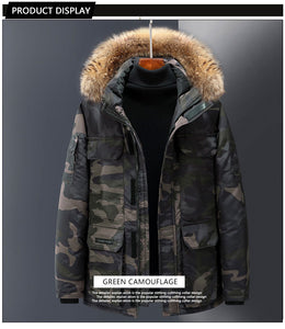 Down jacket, wind tool, male expedition, couple, female, long coat (4366346354828)