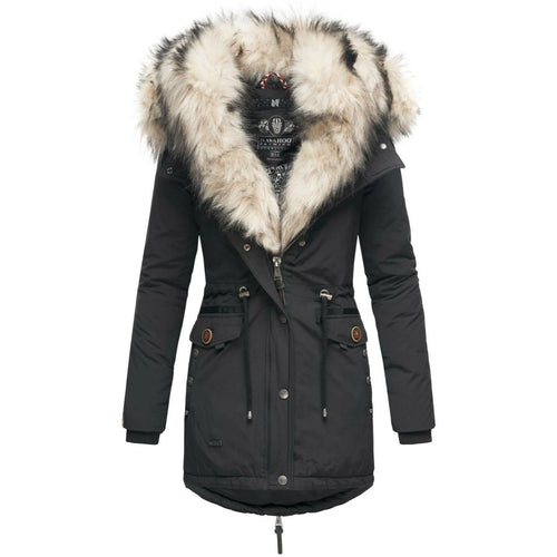 Women Warm Parka Winter Coat Double Hood (4370002051212)