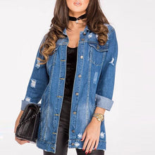 Load image into Gallery viewer, Women Denim Jacket Street Hipster (4369633149068)