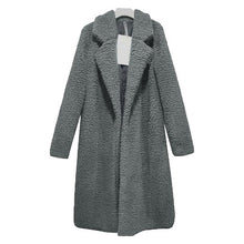 Load image into Gallery viewer, Plain Lapel Long Coat Loose Outerwear (4370039472268)