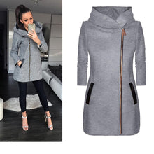 Load image into Gallery viewer, Fashion Side Zipped Jacket with Hoodie (4369624334476)