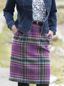 Checkered/plaid Vintage Cotton-Blend Skirts